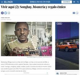 El País | Reportaje fotográfico documental Songhay, bisutería y regalo realizado por el fotógrafo Demian Ortiz y Chema Caballero