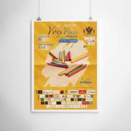 Voix Vives   Diseño gráfico de carteles y pósters publicitarios para la promoción del Festival Internacional de Poesía de Toledo Voix Vives 2018. En la versión dedicada a los niños Le Petit Voix.