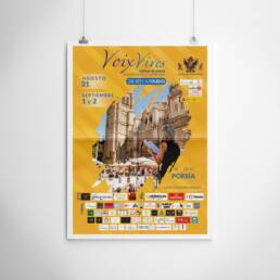 Voix Vives | Fotografía y diseño gráfico de carteles y pósters publicitarios de festivales culturales. Demian Ortiz, diseñador gráfico de Madrid de carteles de publicidad para la promoción del Festival Internacional de Poesía de Toledo Voix Vives 2018. De Sète a Toledo.