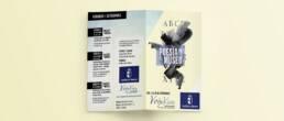 Voix Vives   Diseño y maquetación editorial del díptico de la exposición Poetas en el Museo