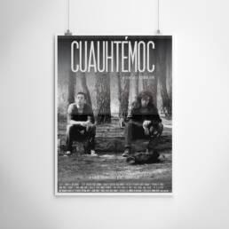 BlueDoor Films | Diseño gráfico de carteles y pósters cinematográficos y publicitarios. Realizado por Demian Ortiz, diseñador gráfico de Madrid de carteles de cine y publicidad para el cortometraje ´Cuauhtémoc´ dirigido por José Ilarraz.