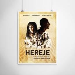 Fotografía y diseño gráfico de carteles y pósters cinematográficos para película ´Hereje´ dirigida por Ignacio Oliva.