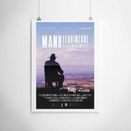 El Frac del Frame   Diseño gráfico de carteles y pósters cinematográficos para película ´Manu Lecguineche. El Bohemio número 10´ dirigida por Víctor López.