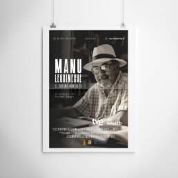 El Frac del Frame | Diseño gráfico de carteles y pósters cinematográficos para película ´Manu Lecguineche. El Bohemio número 10´ dirigida por Víctor López.