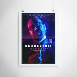 Neobeatnick | Fotografía y diseño gráfico de carteles y pósters publicitarios ´Neobeatnick´, con la participación de La Trashumante Managemente, Ya lo dijo Casimiro Parker y del poeta David Trashumante.
