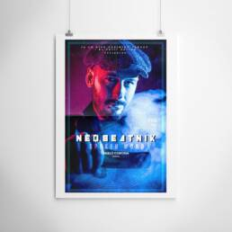 Neobeatnick | Fotografía y diseño gráfico de carteles y pósters publicitarios ´Neobeatnick´, con la participación de La Trashumante Managemente, Ya lo dijo Casimiro Parker y del poeta Pablo Cortina.