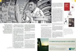 Fotografía promocional del escritor argentino Guillermo Roz en la revista educativa Aptus (Argentina)