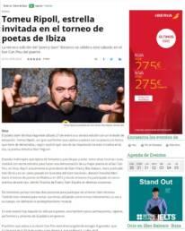 Diario de Ibiza | Fotografía de retrato del slammer Tomeu Ripoll para el Diario de Ibiza por Demian Ortiz