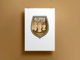 Diseño de logotipo creativo y cartelería para el Triathlom Team del Gimnasio de Alcudia (Mallorca)