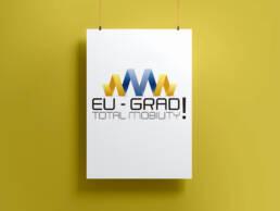 Diseño gráfico de logotipo y aplicación corporativa para proyecto para mejorar la empleabilidad y la movilidad de los jóvenes en Europa.