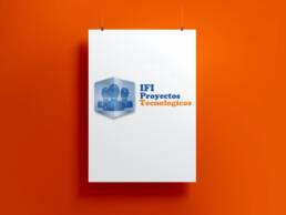 IFI | Diseño de imagen corporativa, papelería corporativa y cartelería de la delegación de Proyectos Europeos del Instituto de Formación Integral de Madrid.