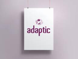 Diseño gráfico de logotipo para Adaptic. uno de los Proyectos Europeos de implantación tecnología en Rumanía.
