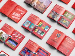 Diseño gráfico de dossier de ventas de fotografías y vídeos del Mundial de Rusia 2018 a distintos periódicos, revistas y medios especializados.