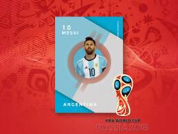 Diseño de creatividad de Leo Messi con la Selección Argentina de Fútbol para la venta de fotografías del Mundial de Rusia 2018 a los distintos medios nacionales e internacionales.