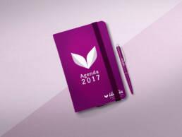 Diseño de agenda profesionales y notebooks, block y libreta corporativa para el Centro de Día Idealia