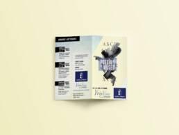 Junta Castilla La Mancha | Diseño gráfico editorial de dípticos publicitarios de la exposición Poesía en el Museo.