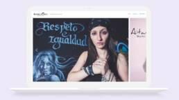Diseño de sitio web corporativo y adaptable con Wordpress del fotógrafo de moda y de musicos Rodrigo Ortiz.