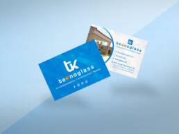 Diseño e impresión de tarjetas de visita profesionales a dos caras de la empresa Teknoglass.
