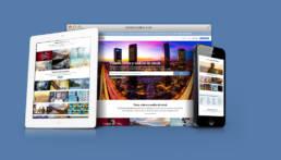 Diseño de página web corporativa, dinámica, adaptable, responsive y creación de copys publicitarios del banco de imágenes y vídeos Cordon Creative.