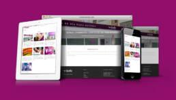 Diseño de página web corporativa de Idealia y creación de copys publicitarios.