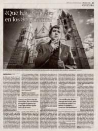 Diario de León | Fotografía de retrato del poeta Vicente Muñoz Álvarez para artículo de prensa