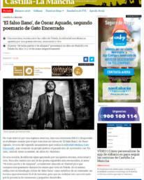 Retrato fotográfico del poeta Óscar Aguado en eldiario.es en su edición de Castilla-La Mancha, publica ´El Falso Llano´ en la editorial toledana ´Gato Encerrado´