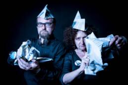 Vociferio | Retrato editorial de los performers Nieves Correa y Abel Loureda.