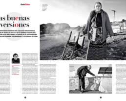 Reportaje fotografico documental ´Las buenas inversiones´ para la revista TintaLibre junto al poeta Luis García Montero en El Gallinero, el poblado chabolista de Madrid.