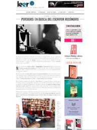 Entrevista al fotógrafo de retrato editorial y publicitario español Demian Ortiz y a Borja Donoso por el escritor y articulista Daniel Bernabé para la revista Leer.