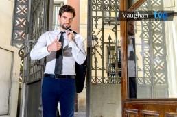 Fotografía publicitaria para el anuncio de TVE1 del programa Aprende Inglés con Vaughan.